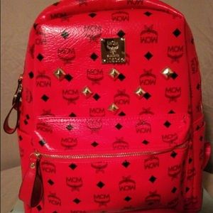 Red mcm (designer bag)